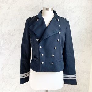 NEW Ralph Lauren Military Jacket Blazer Black 10